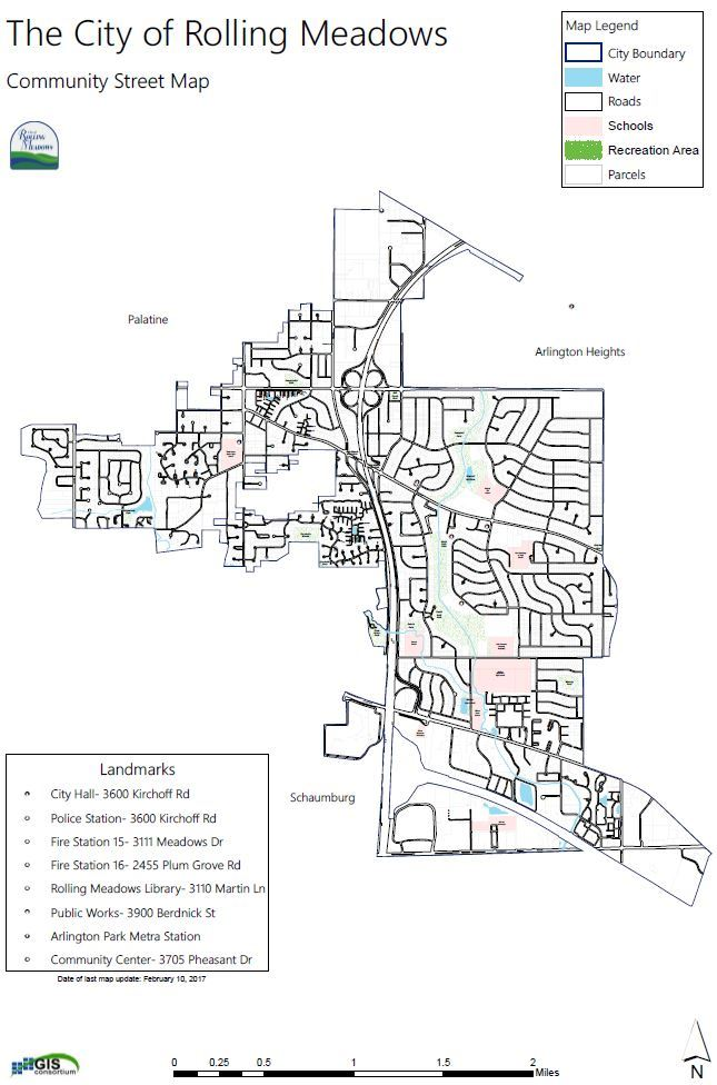 Click to view Rolling Meadows Community Street Map