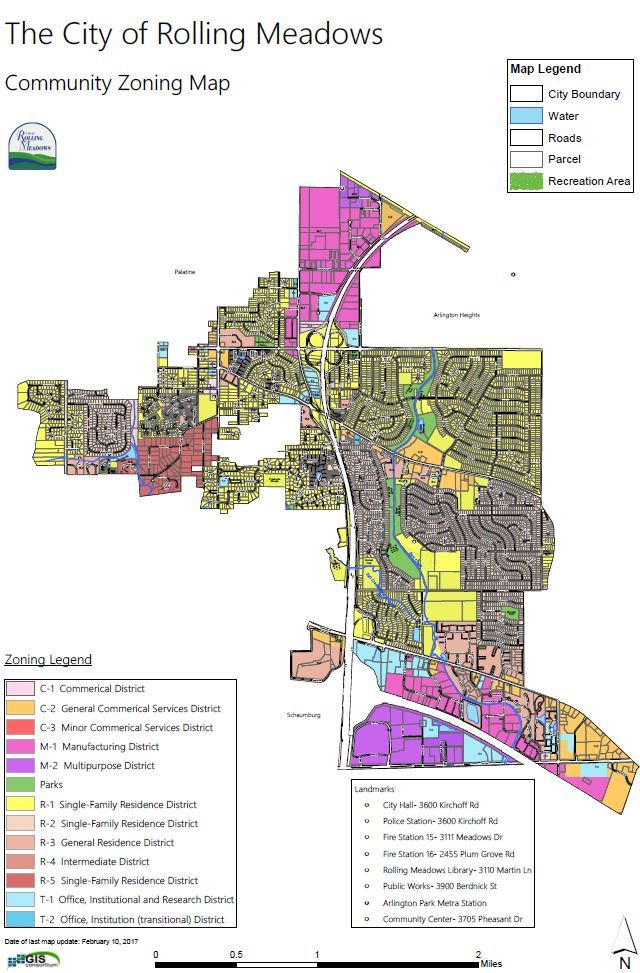 Click to view Rolling Meadows Zoning Map